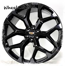 24 Inch Gloss Black 2020 Cadillac Escalade Oe Replica Snowflake Wheels 6x55 24