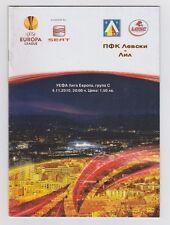 Orig.PRG   Europa League  2010/11  LEVSKI SOFIA - OSC LILLE  !!  RARE