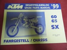 SPARE PARTS MANUAL CHASSIS OCCASION KTM 60, 65 SX 1999 REF. 3.204.62   10/98