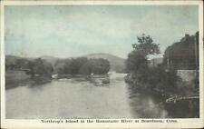 Boardman CT Litchfield County Northrop's Island Housatonic River Postcard
