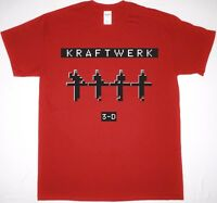 KRAFTWERK 3D CONCERTS RED T SHIRT SYNTH ELECTRONIC KRAUTROCK ROBOTS 2017 TOUR UK