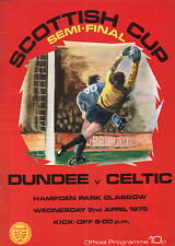 1974/75 Dundee v Celtic, Scottish Cup Semi Final, PERFECT CONDITION