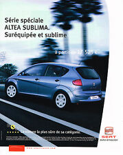 PUBLICITE ADVERTISING 114  2005  SEAT ALTEA SUBLIMA