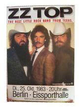 Zz Top German Tour Poster Z Z Top Zztop 1983 Concert