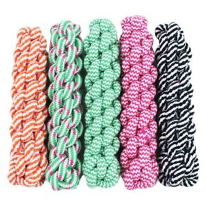 Rope Dog Tug Toys Puppy Chew Braided Pets Dogs Training Plush Bite New Quality