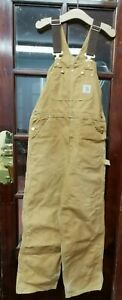 Vintage Carhart Double Knee Dungarees Very Clean Size Small