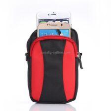 Multifunktions Gürteltasche Tasche mit Karabiner für Smartphones in rot