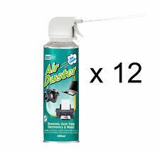 12 x 400ml Compressed Air Duster Cleaner Spray Can Canned Laptop Keyboard Mouse