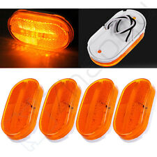 "4X Amber Led 4"" Side Marker Clearance Lamp for Samll Travel Trailer Tiny House"