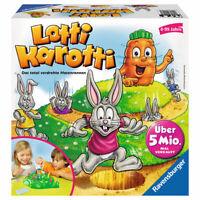 RAVENSBURGER Kinderspiel Lotti Karotti Aktionsspiel Wettlauf Gesellschaftsspiel