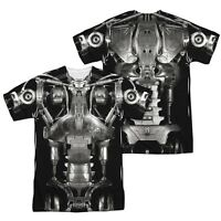 Terminator SciFi Action Endoskeleton 2-Sided Sublimation Print Poly Shirt S-3XL