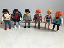 Playmobil Lot of 6 Different People Pirate Native American Soldier Swimsuit Girl