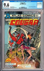 Cougar #1 CGC 9.6 OWP 1975 3798463001 Atlas Comics 1st Cougar (Jeff Rand)