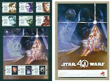 PORTUGAL 2017 STAR WARS - 40 YEARS * 6 STAMPS+1 BLOCK+BROCHURE * MNH ISSUE 25/08