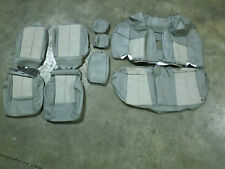 OEM MITSUBISHI LEATHER SEAT COVER GALANT 08-12 GREY 2 TONE COMPLETE SET COVERS
