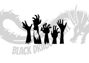 Zombie Hands Halloween Design Spooky Decor Home Wall Art Decal Vinyl Sticker