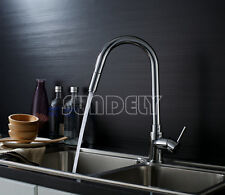 New Chrome Brass Kitchen Faucet Sink Mixer Swivel Spray Pull Out Basin Tap