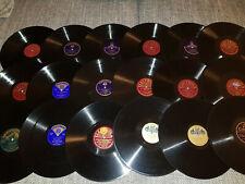 18 Schellackplatten Schellack Grammophonplatten Starterpaket für Grammophon 30cm