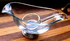 GRAVY BOAT W /silver base and gold EDGE serving scoop