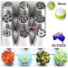 Russian Icing Piping Nozzles Cake Flower Tools DIY Baking Decorating Tips 9PCS