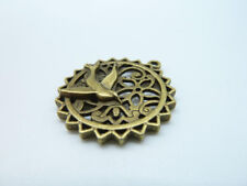 5pcs Antique Bronze Filigree Bird Flower Cage Charm Pendant for Necklace Making