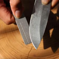 EDC Pocket Diamond Stone Steel Sharpener Keychain Knife Sharpen Tools IBUS