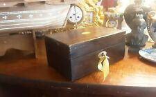 Small Antique Georgian sewing box with key