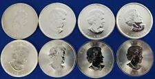 8-Canada 1 ozt .9999 Silver Maple Leaf $5 BU- spots 2000/4-2011/16/17/18  L7142