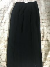 Cach'e Long Black Winter Straigth Pencil Skirt Size 6