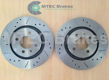 VW GOLF mk2 G60 Drilled Grooved Brake Discs Front