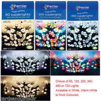 Premier Decorations Christmas Tree Lights Multi Action LED Supabrights Xmas