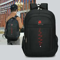 "16"" Mens School Travel Backpack Laptop Notebook Zipper Bag Rucksack BL"