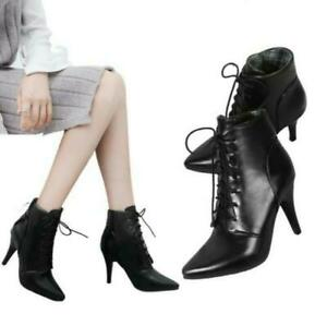 Pointy Toe Fashion Women's Ankle Boots Kitten Heel Casual Outdoor Shoes Pumps