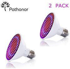 2pc Plant Grow Light Bulb LED Full Spectrum Blue Red E27 E26 Bonsai Micro Greens