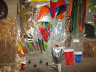 HUGE LOT OF SALMON FLY TYING SUPPLIES MOST NEW/UNUSED! COMPLETE SET-UP! LQQK!