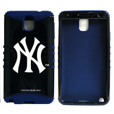 MLB Hybrid Silicone Cover Case for Samsung Galaxy Note 3 III New York Yankees