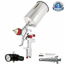 TCP Global® Brand Pro HVLP Spray Gun with 1.4mm Fluid Tip and Regulator