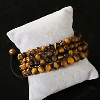 6mm 108 Prayer Bead Tiger Eye Buddhist Buddha Meditation Mala Bracelets Necklace