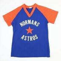 Vtg 70s 80s Norman Astros Jersey Shirt XS/S? Retro Baseball Blue Orange