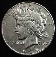 1935-s Peace Silver Dollar.  Circulated.  104958