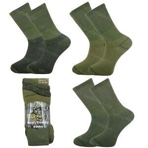 Mens Military Socks 3 Pairs Army Thermal Hiking Boots Walking Combat warm 6-11