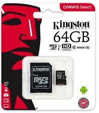Ms Kingston MICROSDHC 64 GB Scheda di Memoria Classe 10 UHS-I 80MB/S Sdcs / 64GB