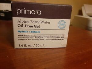 Primera Alpine Berry Water Oil-Free Gel Hydrate + Balance 1.6 fl oz New in Box