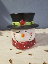 Yankee Candle Co SNOWMAN HEAD Tea Light Tart Warmer Christmas