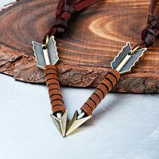 Vintage Men Leather Arrow Punk Necklace Pendant Choker Chain Charm Jewelry