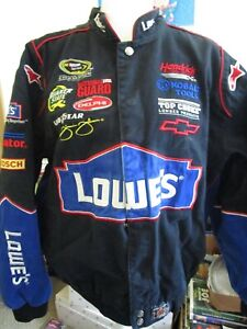 Jimmie Johnson Nascar Jacket JH Design  Black/Blue Size XL
