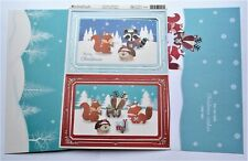 Kanban Christmas Animal Buddies Die Cut Foiled Toppers,Card, Insert Kit 54428