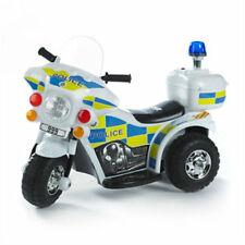 Kids 6V Ride on Electric Bike POLICE Flash Siren Outdoor Indoor Toy NOU saa rpk
