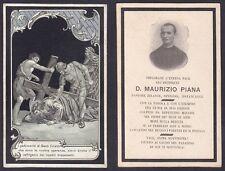 LUTTINO 10 ARCIPRETE MAURIZIO PIANA - NONIO - SANTINO - HOLY CARD 1906