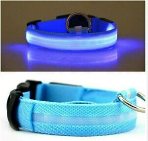 LED COLLAR dog cat night safety neck harness.